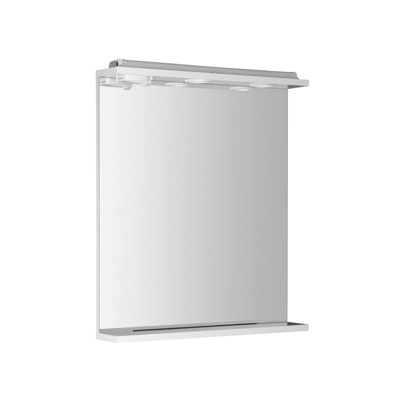 Badkamerspiegel Sapho Korin 60x70x12 cm Incl. Planchet en LED Verlichting-Stopcontact