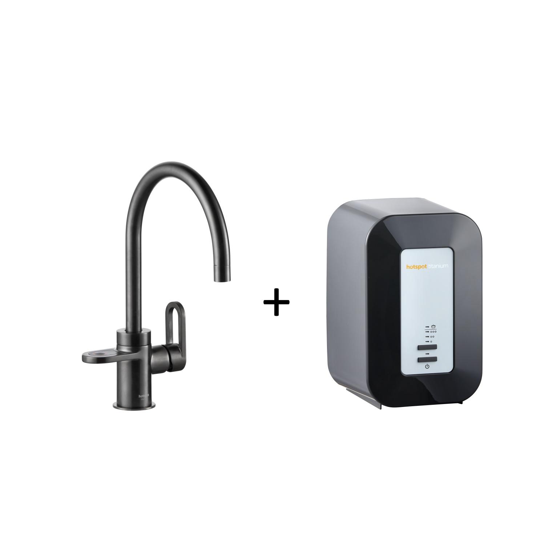 Productafbeelding van Kokendwaterkraan HotSpot Alessio Mat Zwart Inclusief 4 Liter Boiler