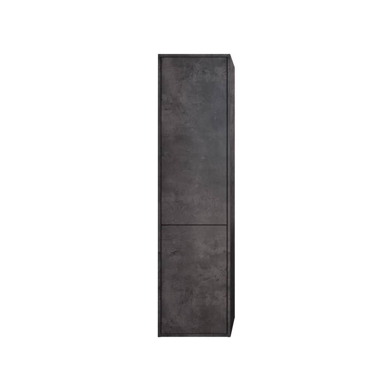 Kolomkast Allibert Marny met Linnenkorf 40x156x35 cm Donker Beton