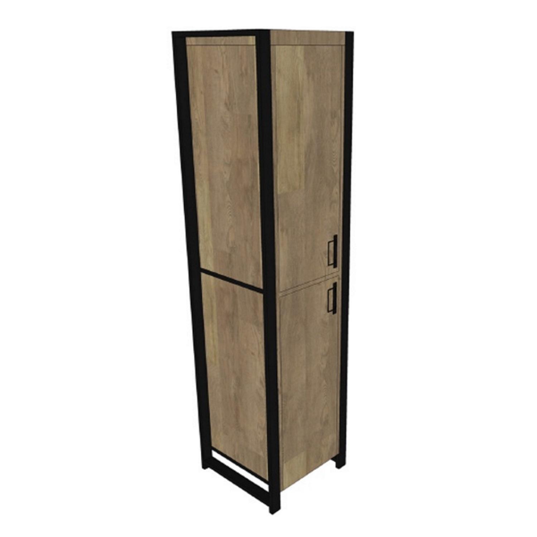 Kolomkast Boss & Wessing Mango Wood 200x50x50 cm Met Mat Zwart Metaal (links draaiend) kopen - Tegel Depot sanitair met korting