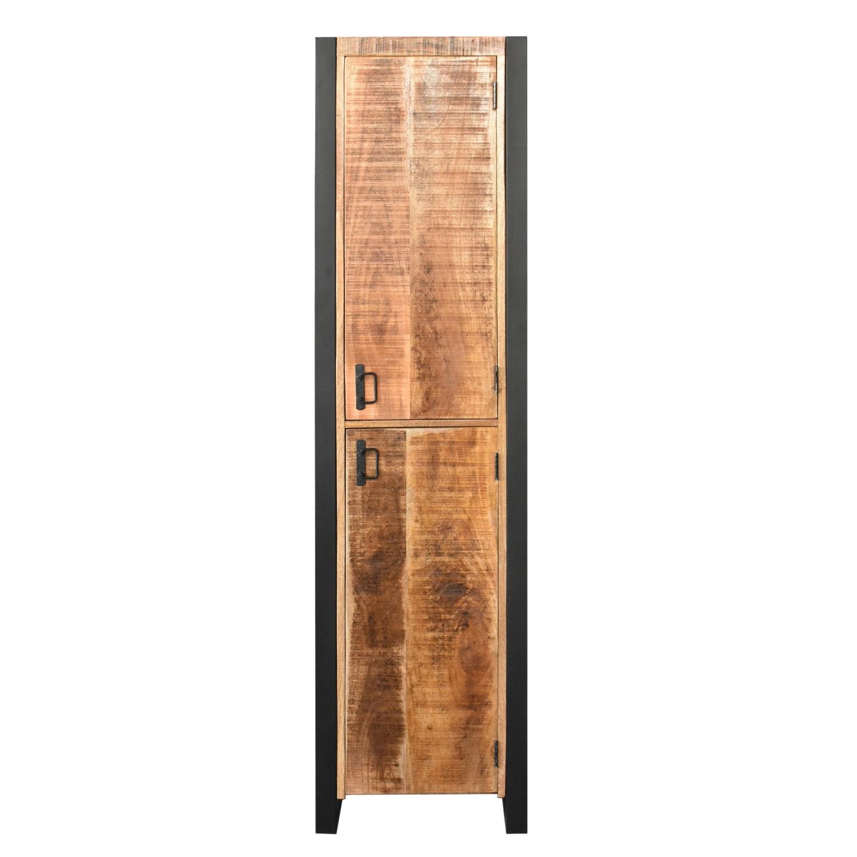 Kolomkast Boss & Wessing Mango Wood 200x50x50 cm Met Mat Zwart Metaal (rechts draaiend) kopen - Tegel Depot sanitair met korting