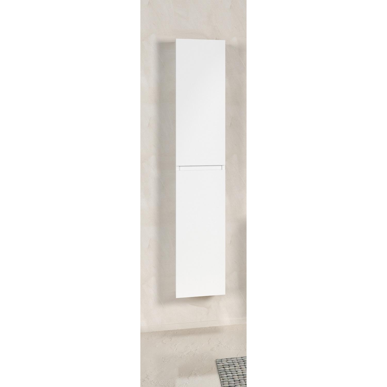 Kolomkast Exellence Hoge Kast 160 cm Bologna 160x40x35 Mat Wit (2 deuren)