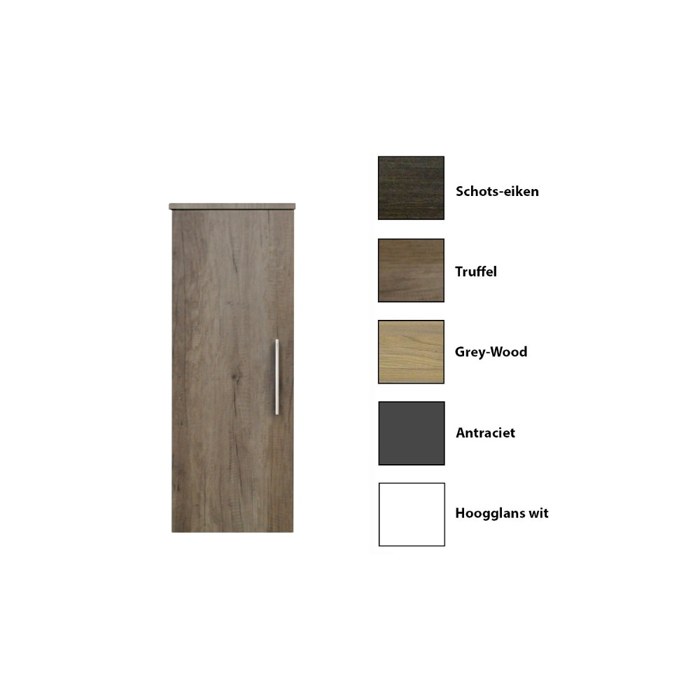 Kolomkast Sanicare 1 Soft Closing Deur Grey Wood