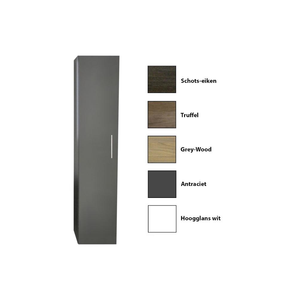 Kolomkast Sanicare 1 Soft Closing Deur Inclusief Waszak Grey Wood