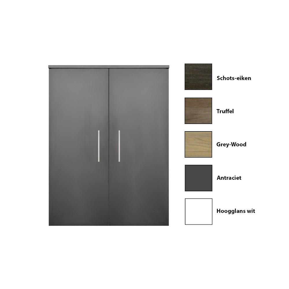 Kolomkast Sanicare 2 Deurs Soft Closing Grey Wood