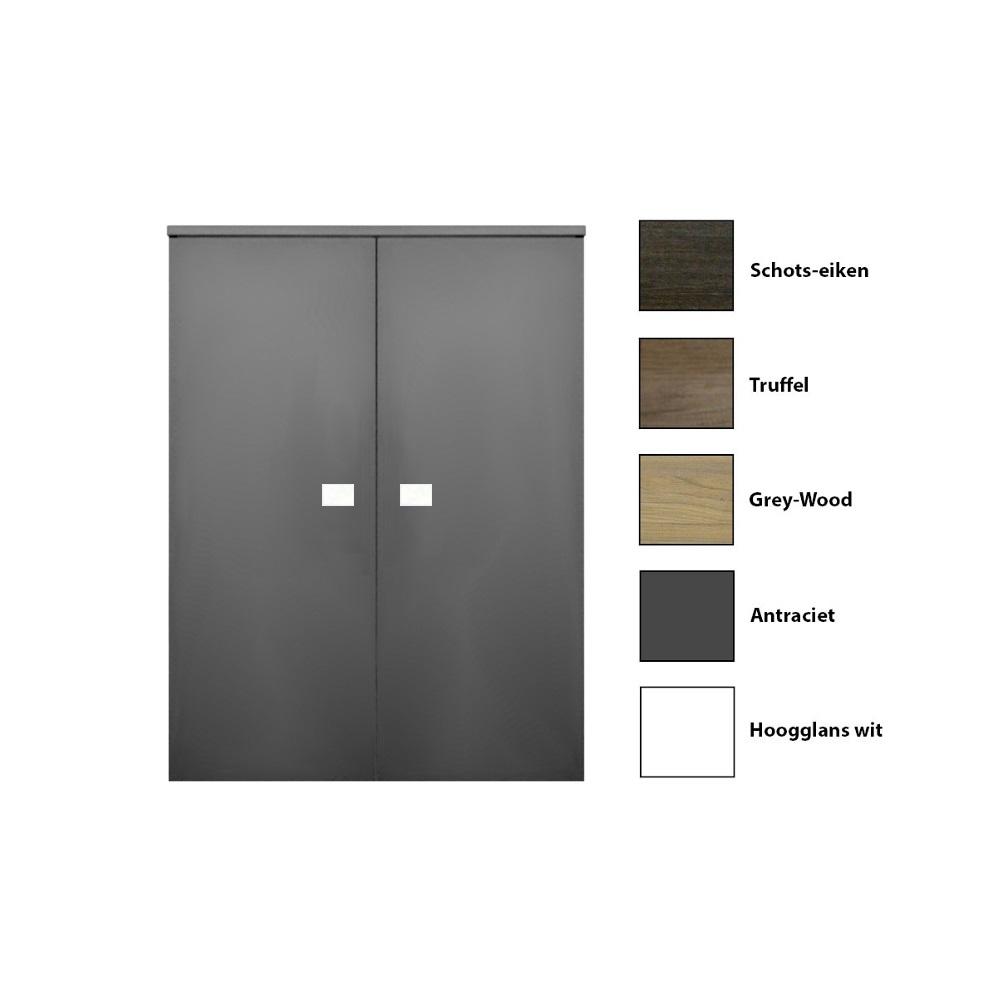 Kolomkast Sanicare 2 Soft Close Deuren Grey Wood
