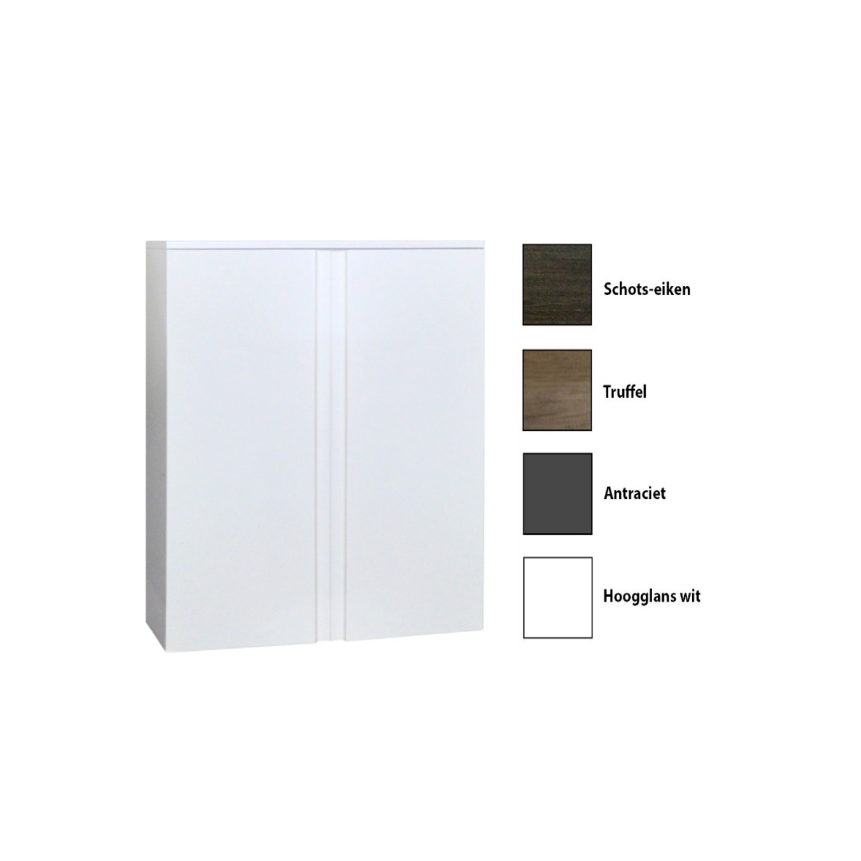 Kolomkast Sanicare Q7 2-Deurs Soft-Closing Greeploos 90x67x32 cm ...