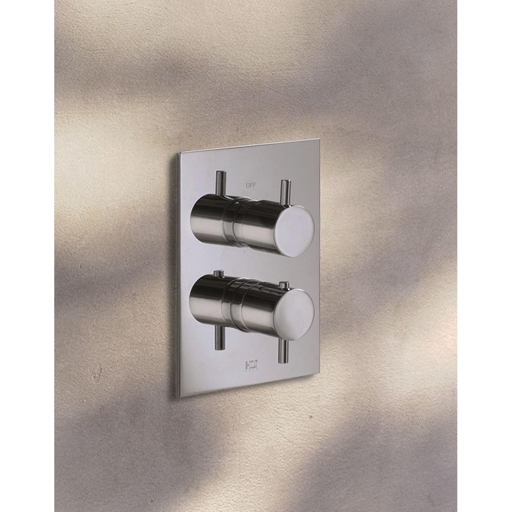 Hotbath Laddy inbouw thermostaat met omstel, geborsteld nikkel