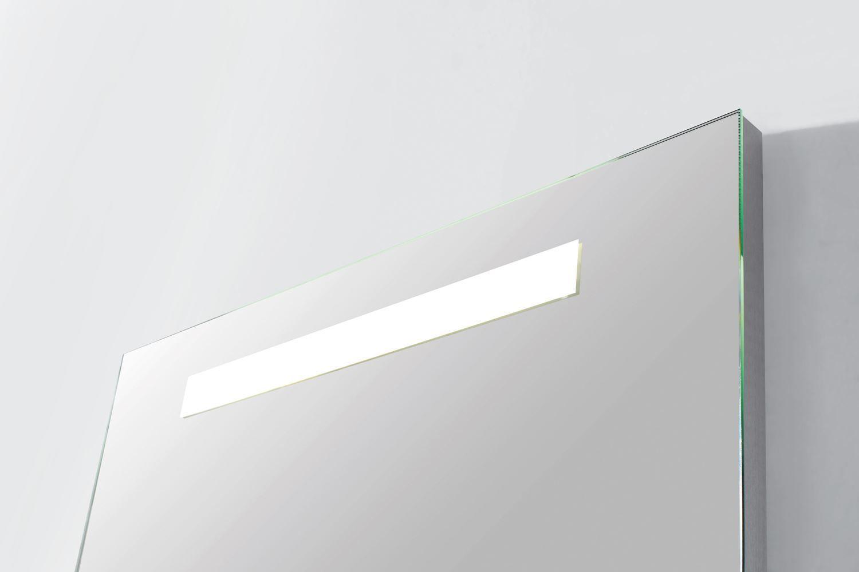 Spiegel Led Verlichting : Spiegel sanitop light met led verlichting aluminium geborsteld in