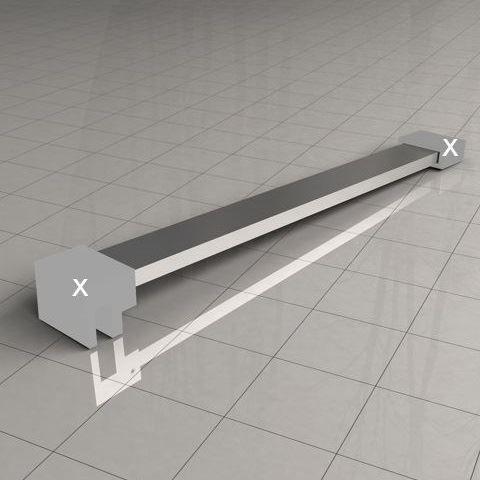Sanitair-producten 5631 Losse stabilisatiestang chroom 100cm