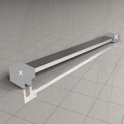 Sanitair-producten 5640 Losse stabilisatiestang chroom 120cm