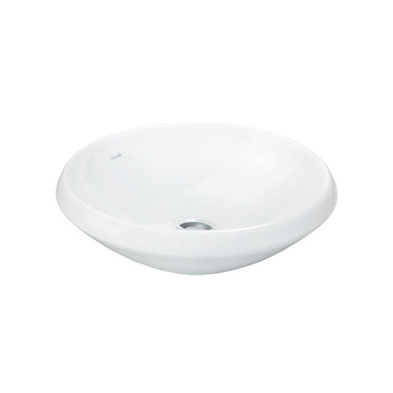 Badkamer Opbouw waskom Sapho Minimal 45x13.6 cm Keramiek Wit