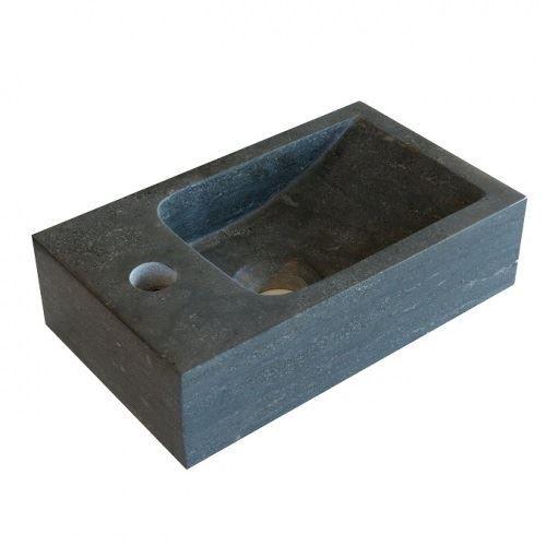 Hardstenen fontein Mini met kraangat links 18x30x8 cm