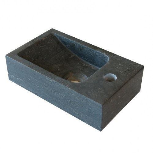 Hardstenen fontein Mini met kraangat rechts 18x30x8 cm