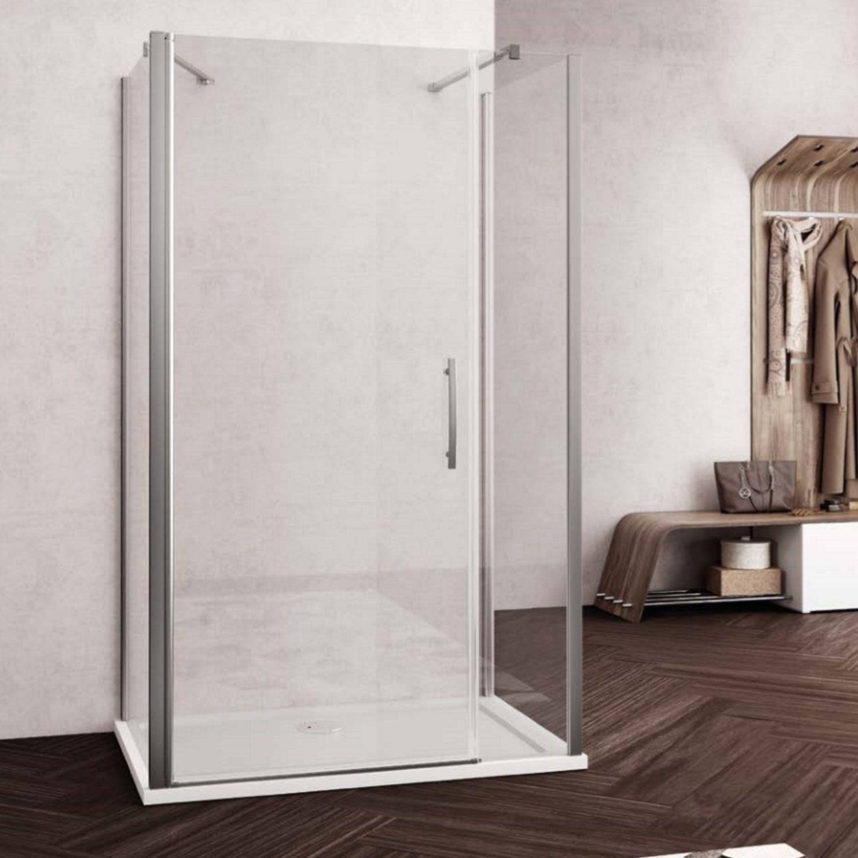 Douchecabine Lacus Montecristo 110 cm Aluminium Muurprofiel Helder Glas 6mm (2 zijwanden)