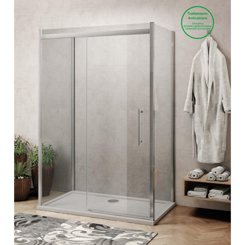 Productafbeelding van Douchecabine Lacus Procida 160 cm Naar Binnen en Buiten Klapdeur 8mm Helder Glas (2 zijwanden)