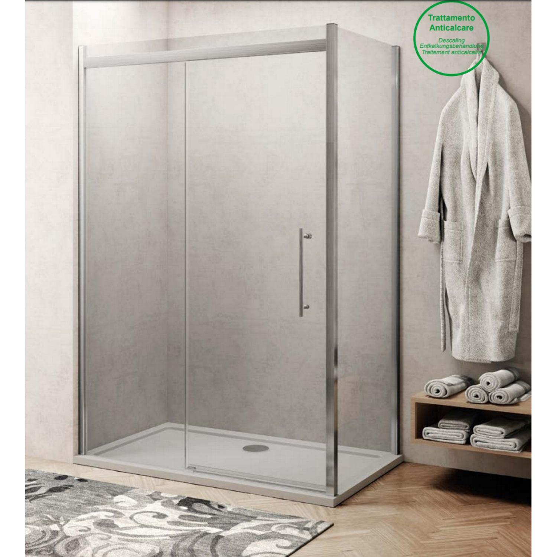 Productafbeelding van Douchecabine Lacus Procida 180 cm Naar Binnen en Buiten Klapdeur 8mm Helder Glas (1 zijwand)