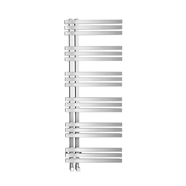 Designradiator Sapho Vista Recht 50x119 cm 307W Geborsteld RVS