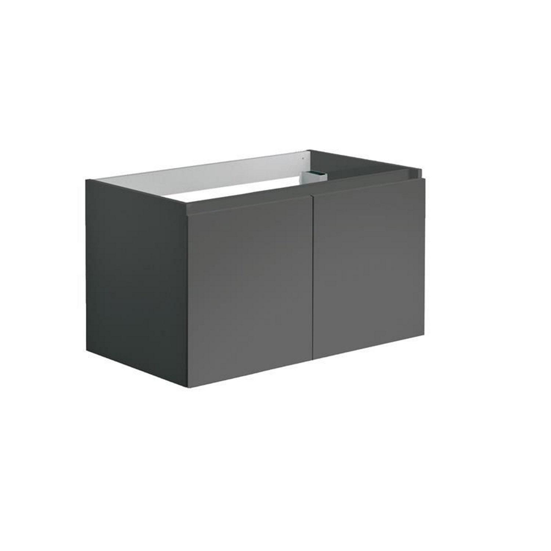Onderkast Allibert Alma 80x47,2x46 cm Soft-Close Deuren Antraciet (wastafel optioneel)