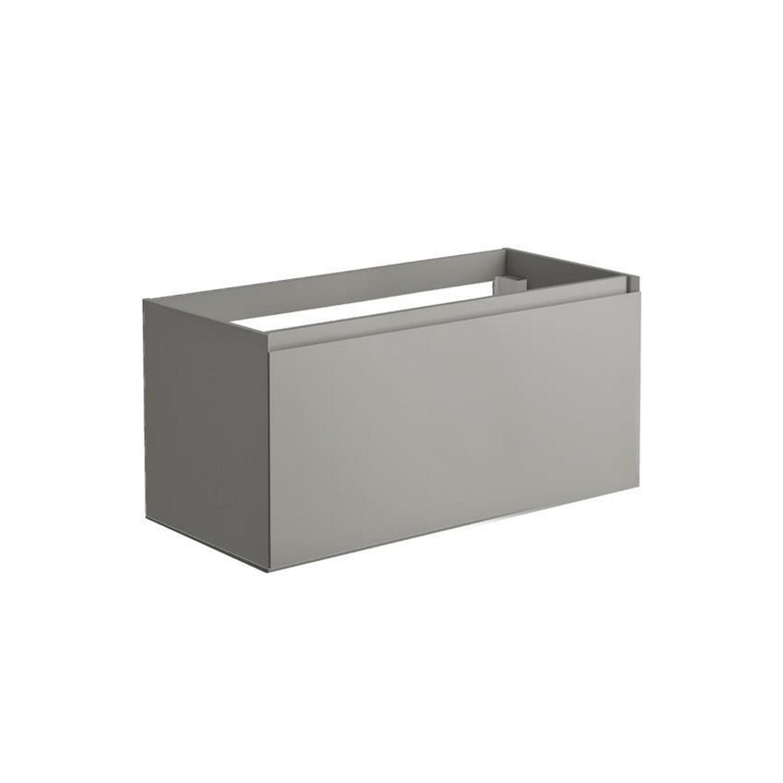 Thuis bezorgd Onderkast Allibert Nordik 100x46x47,2 cm Gelakt MDF Ultra Mat Grijs (wastafel optioneel) Wastafelmeubels
