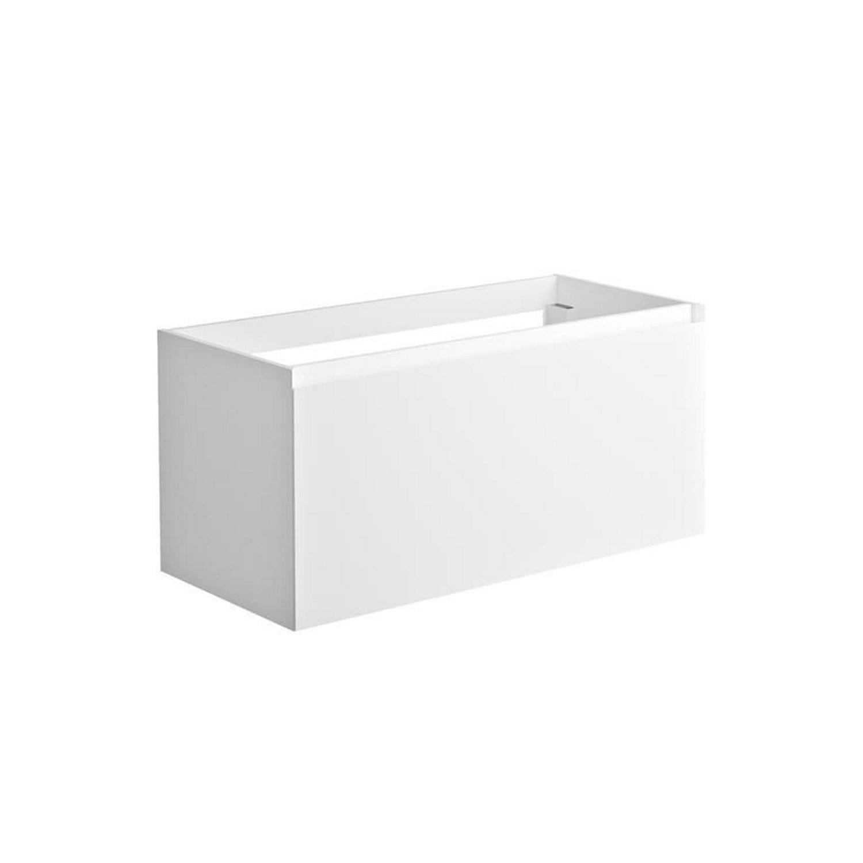 Sanitair tegel Allibert kopen? Onderkast Allibert Nordik 100x46x47,2 cm Gelakt MDF Ultra Mat Wit (wastafel optioneel) met voordeel razendsnel in huis bezorgd