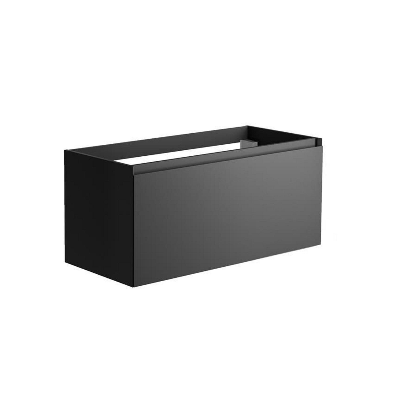 Sanitair tegel Allibert kopen? Onderkast Allibert Nordik 100x46x47,2 cm Gelakt MDF Ultra Mat Zwart (wastafel optioneel) met voordeel razendsnel in huis bezorgd