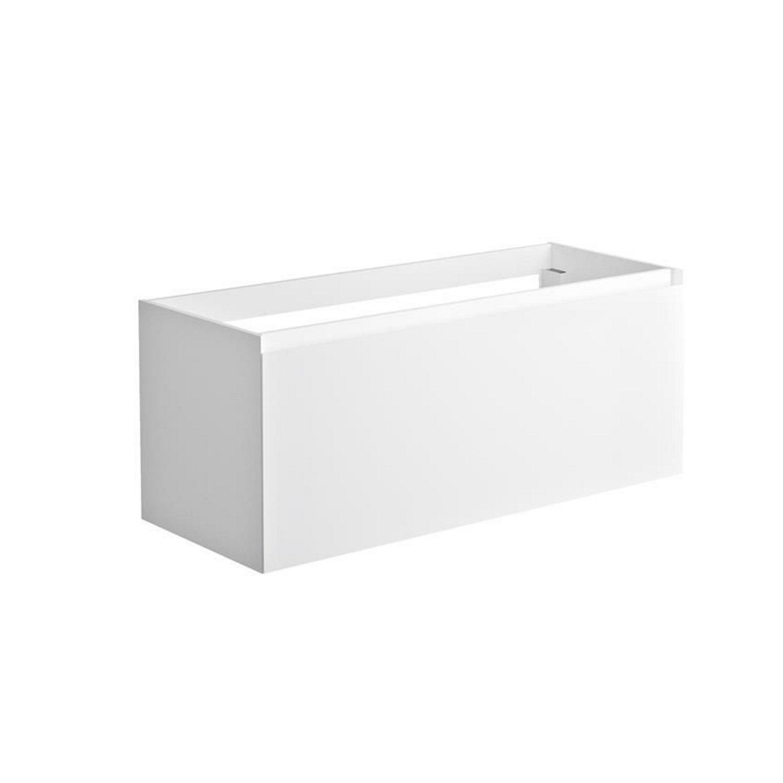 Sanitair tegel Allibert kopen? Onderkast Allibert Nordik 120x46x47,2 cm Gelakt MDF Ultra Mat Wit (wastafel optioneel) met voordeel razendsnel in huis bezorgd