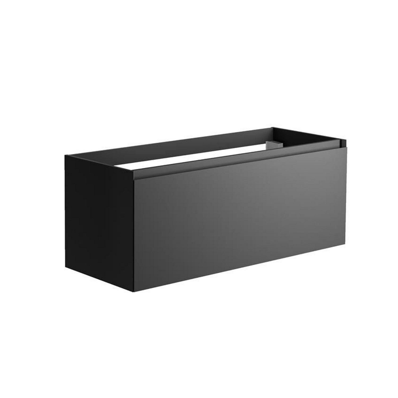 Sanitair tegel Allibert kopen? Onderkast Allibert Nordik 120x46x47,2 cm Gelakt MDF Ultra Mat Zwart (wastafel optioneel) met voordeel razendsnel in huis bezorgd