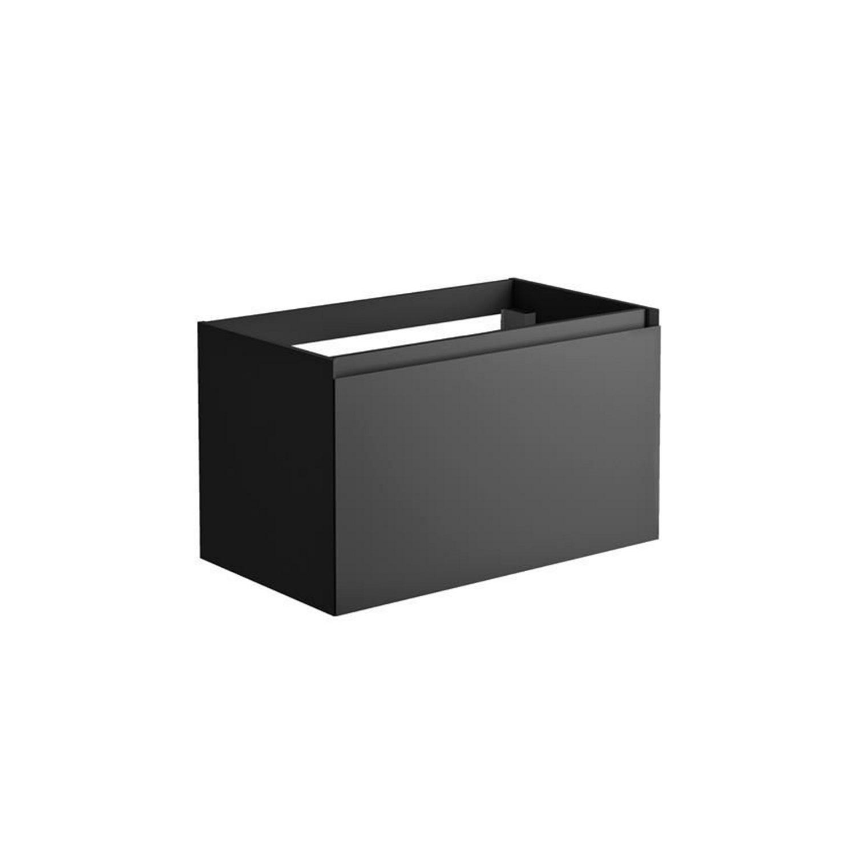 Thuis bezorgd Onderkast Allibert Nordik 80x46x47,2 cm Gelakt MDF Ultra Mat Zwart (wastafel optioneel) Wastafelmeubels