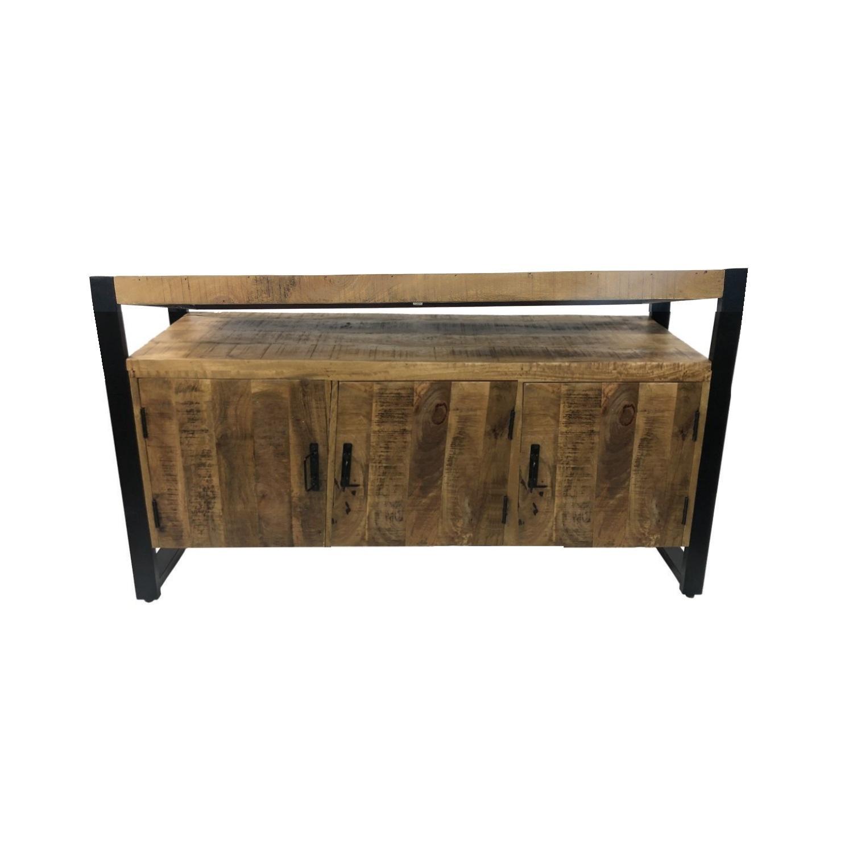 Onderkast Boss & Wessing Mango Wood 135x45x81cm Met Mat Zwart Metaal kopen - Tegel Depot sanitair met korting