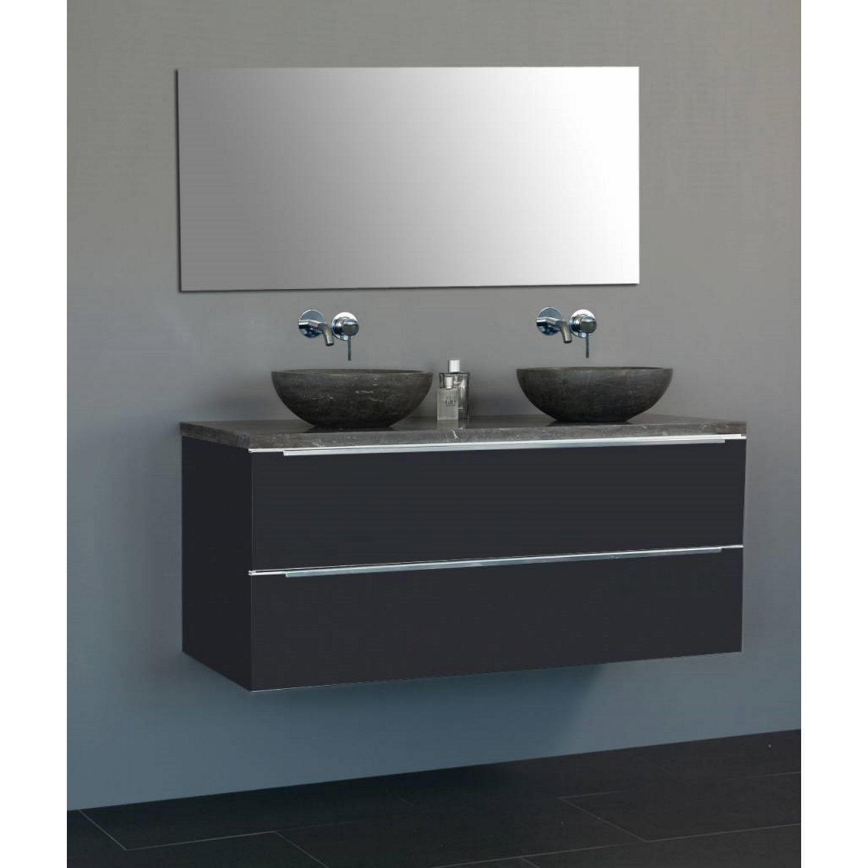 Badkamermeubels Wastafelmeubels kopen? Badkamermeubelset Sanilux Senza Dynasty 120x47x50 cm met Twee Waskommen (in 2 kleuren leverbaar) met korting
