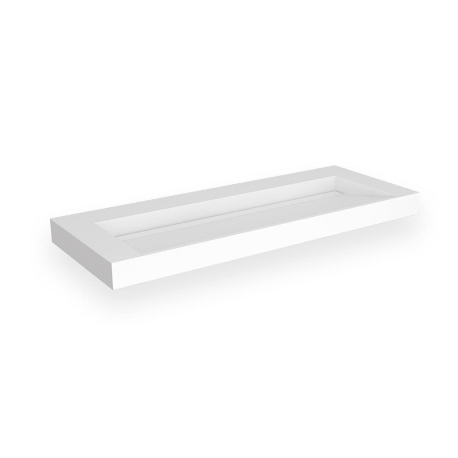 Opbouw Wastafel EH Design Stretto 1205x455x80 mm Solid Surface Mat Wit