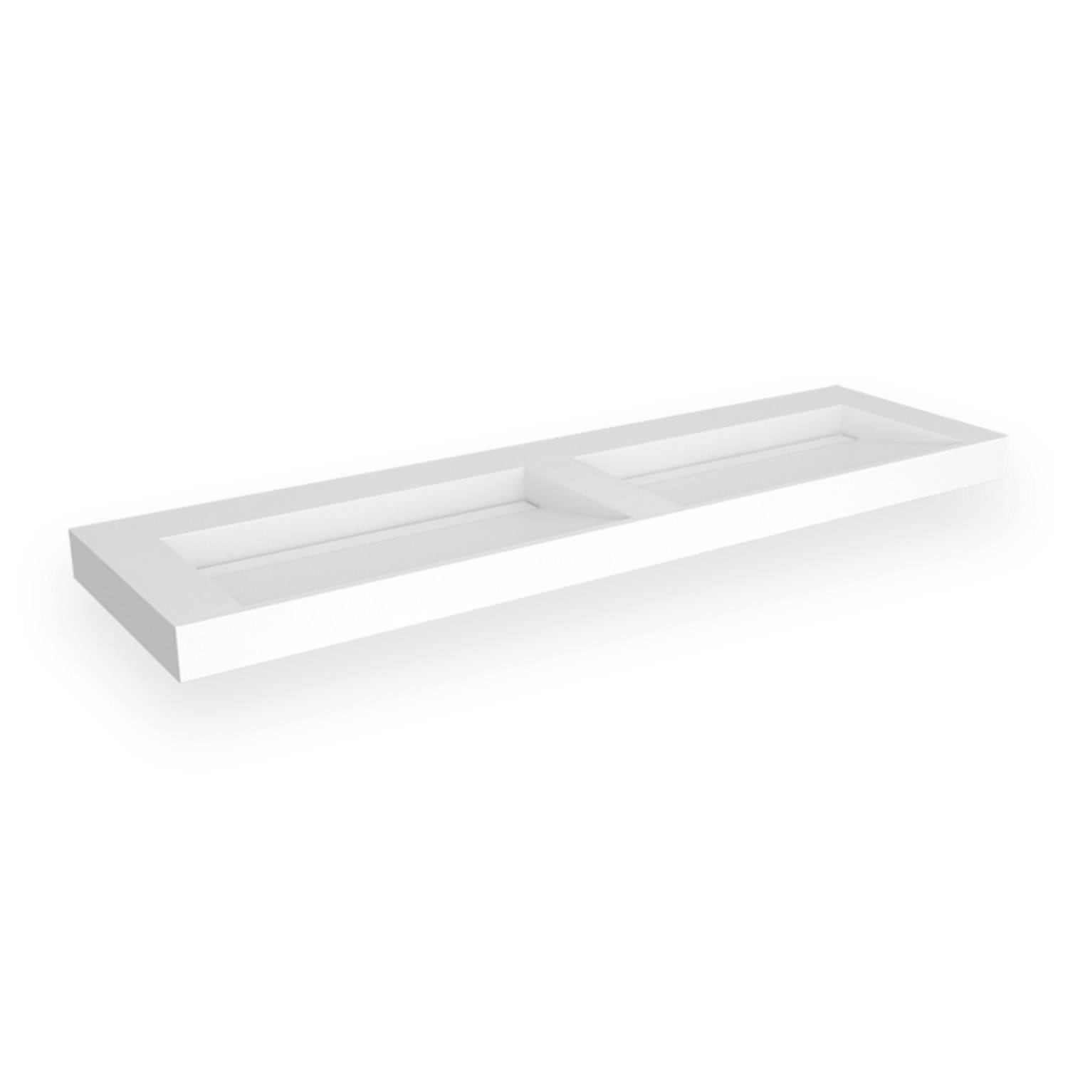 Opbouw Wastafel EH Design Stretto 1605x455x80 mm Solid Surface Mat Wit
