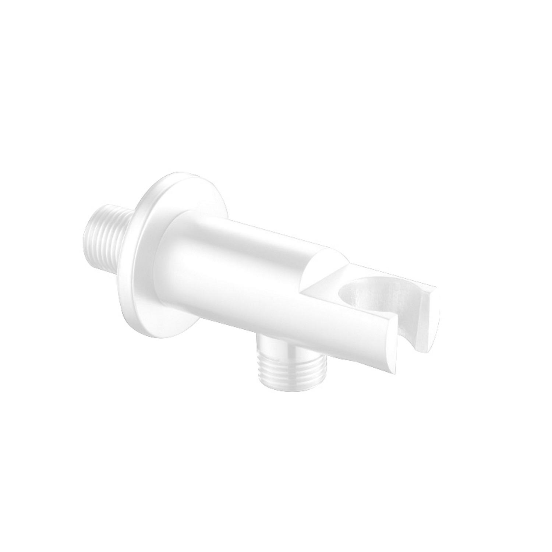 Opsteek Muuraansluiting Best Design White RVS Mat Wit voordeel