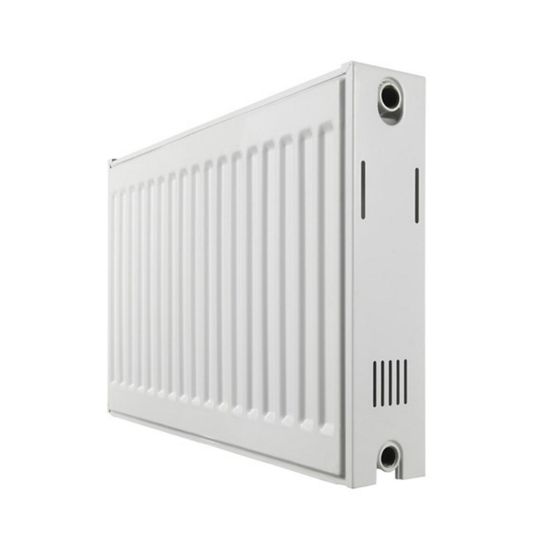 Paneelradiator Haceka Imago Duo 80x50 cm Wit Zij-Aansluiting (1077 Watt)