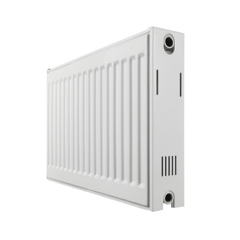 Paneelradiator Haceka Imago Duo 140x60 cm Wit Zij-Aansluiting (2181 Watt) voordeel