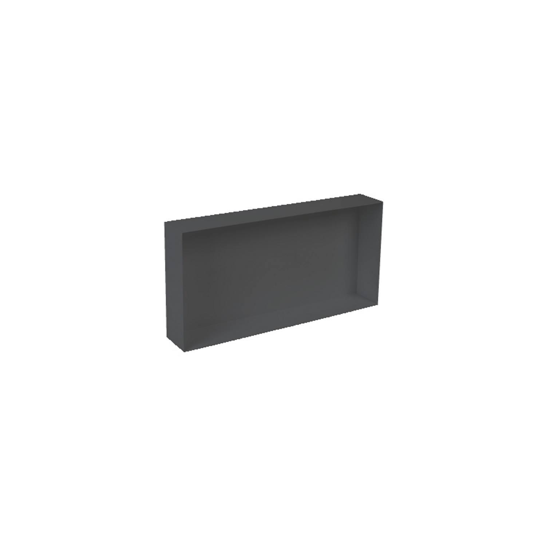 Inbouwnis Plieger Waterproof Voor In Wand 30x60 cm RVS Mat Zwart (zonder flens) voordeel