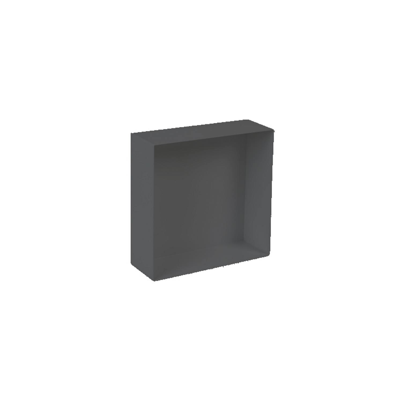 Inbouwnis Plieger Waterproof Voor In Wand 30x30 cm RVS Mat Zwart (zonder flens) voordeel