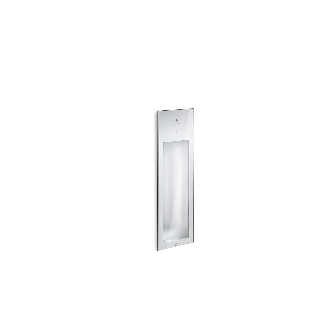 Sunshower Pure White Infrarood Inbouwapparaat 199x619x10 Cm Half Body Aluminium