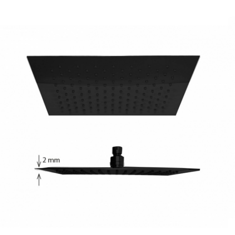 Regen douchekop Best Design Nero-Brause Vierkant 20 cm 304L Mat Zwart Best design Gratis bezorgd