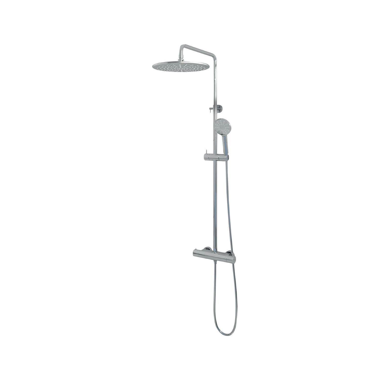 Regendouche Brauer Chrome Showerpipe Met Thermostaat 30cm 3 Standen Messing Chroom