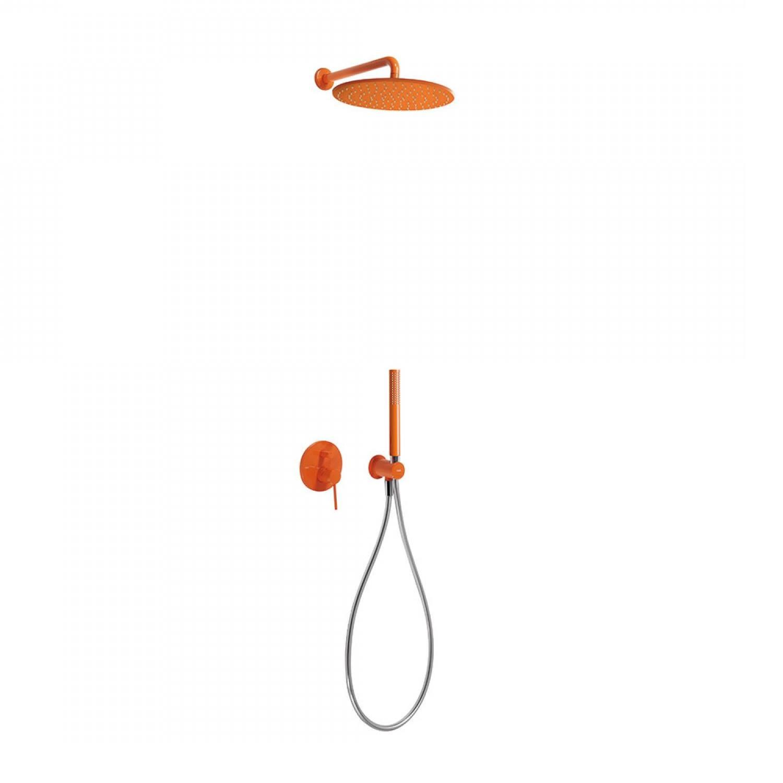 Regendouche Inbouw Tres Study Colors Mengkraan 30 cm Douchekop Rond Wandarm Oranje voordeel