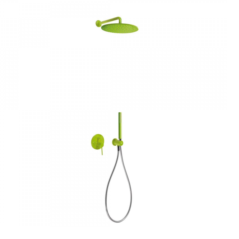 Regendouche Inbouw Tres Study Colors Mengkraan 30 cm Douchekop Rond Wandarm Groen voordeel