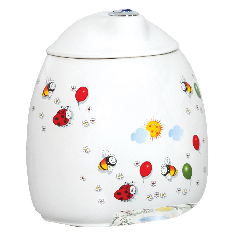 Productafbeelding van Reservoir Kindertoilet Creavit Flower Keramiek