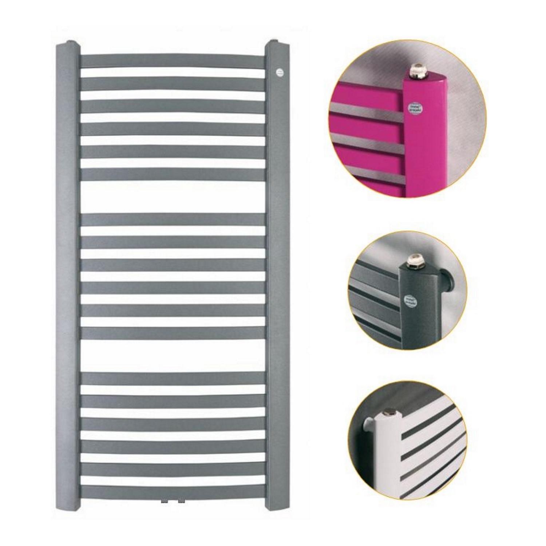 Handdoekradiator IP Berlijn Wit Of Graphite In 4 Verschillende Maten (Ook in elektrische uitvoering)