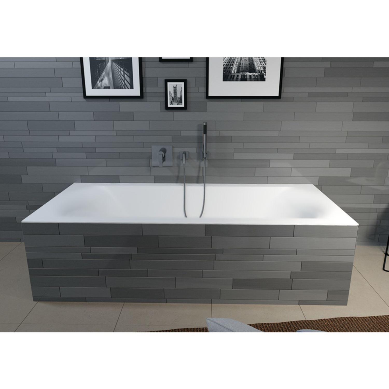 ligbad riho linares 180x80 velvet white mat wit. Black Bedroom Furniture Sets. Home Design Ideas
