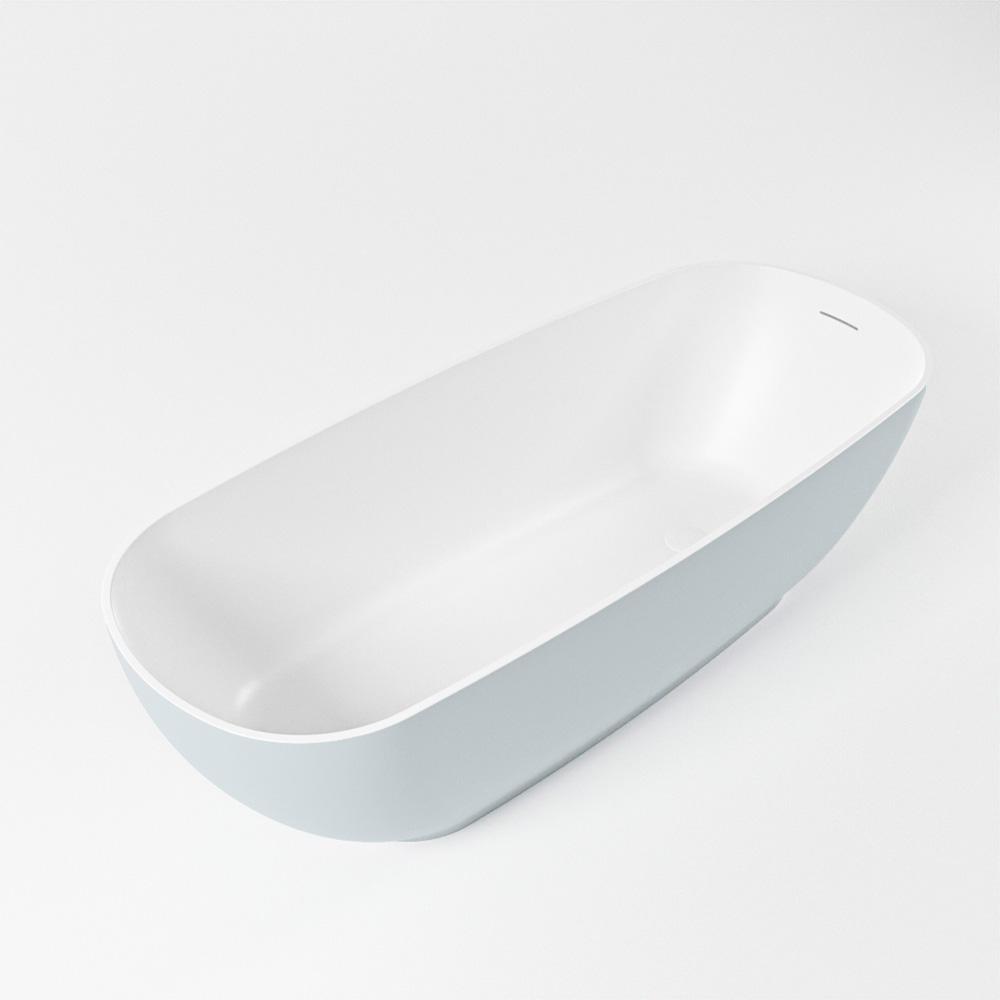 ROCK vrijstaand bad 170x70cm kleur Clay / talc
