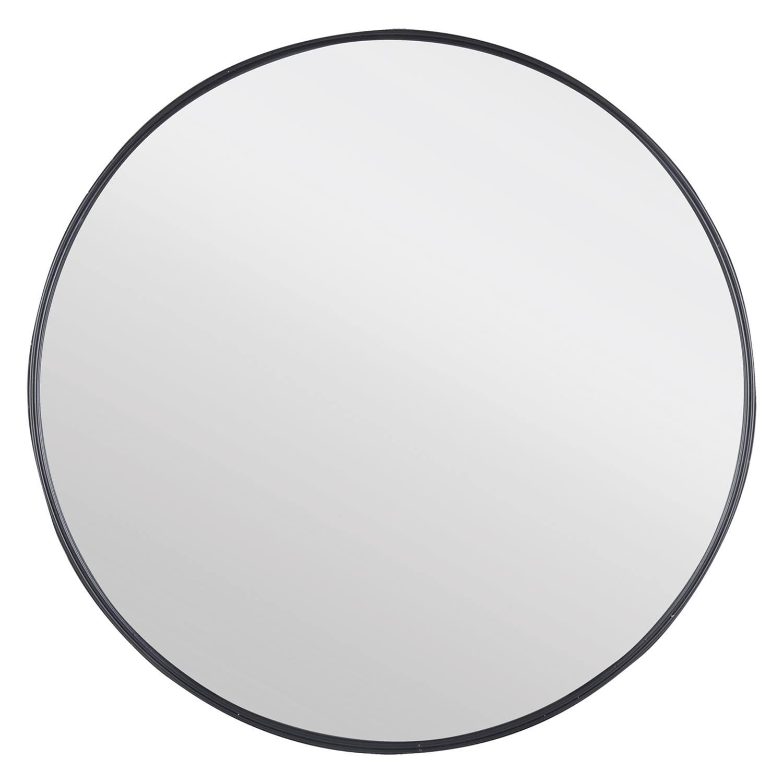 Badkamerspiegel Differnz Rond 65x65cm Aluminium Omlijsting Mat Zwart