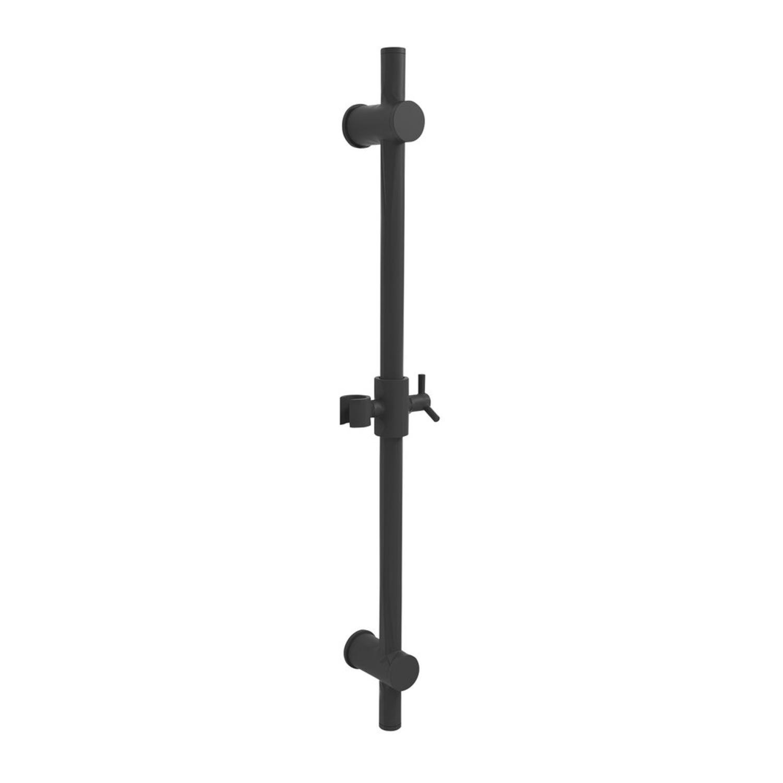 Glijstang Sapho Rond met Glijstuk 70 cm Mat Zwart