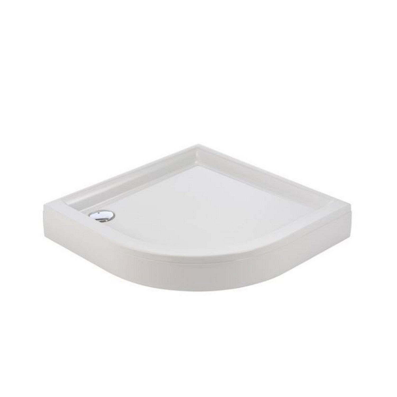 Sealskin Senso douchebak 1-4 rond 100x100cm met voorpaneel, wit